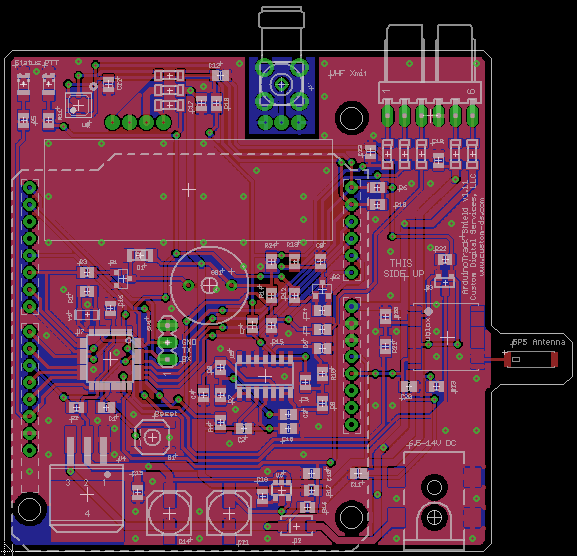 arduinotrack shield v111 board